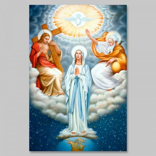 photo of mary in the trinity