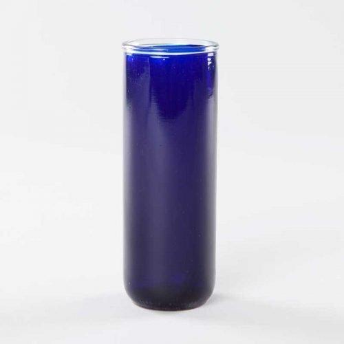 verre à lampion 5 jours - bleu royal