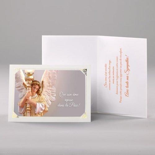 carte sympathies - sur les ailes d'un ange
