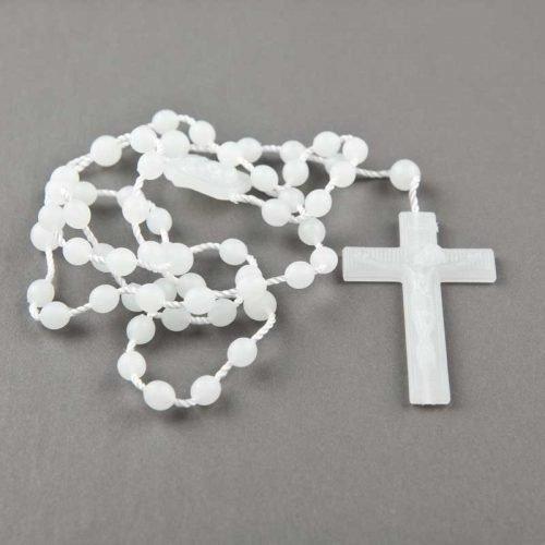 chapelet en corde - perles plastiques rondes - lumineux