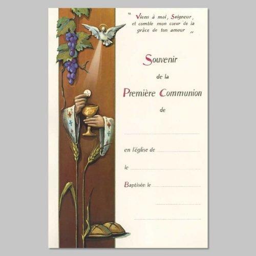 certificat de première communion - calice