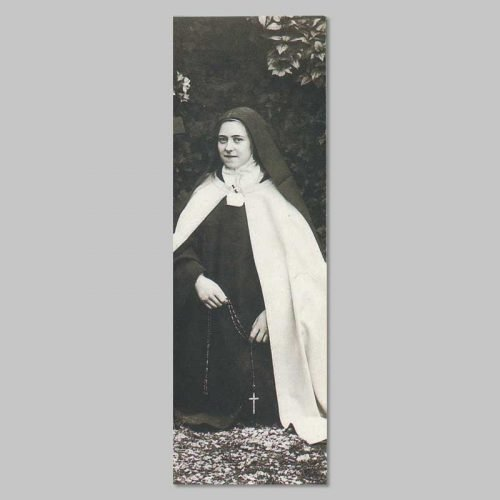 bookmark - thérèse with a rosary