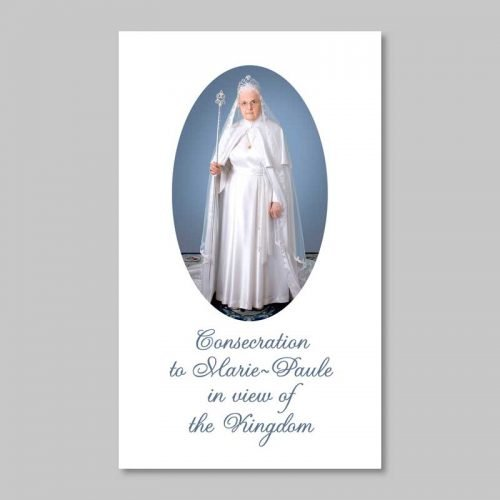 leaflet of consecration to marie-paule