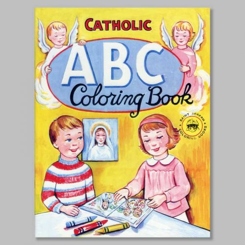 coloring book catholic abc