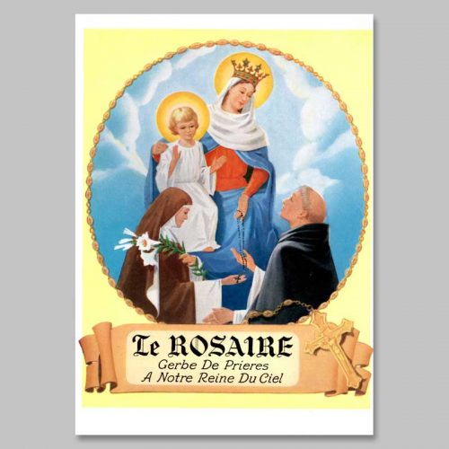 livre à colorier - le saint rosaire