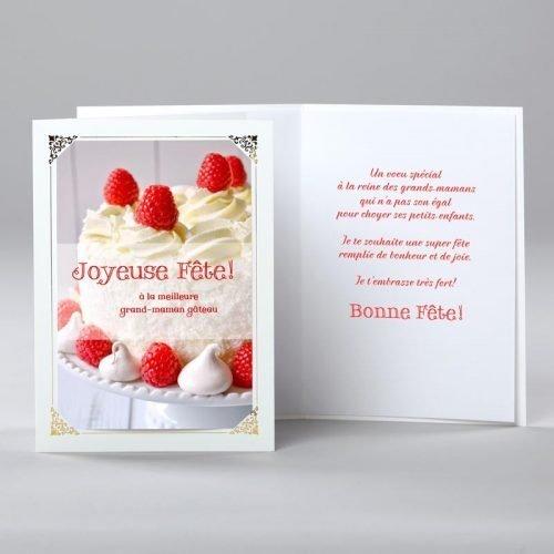 carte anniversaire - grand-maman gâteau