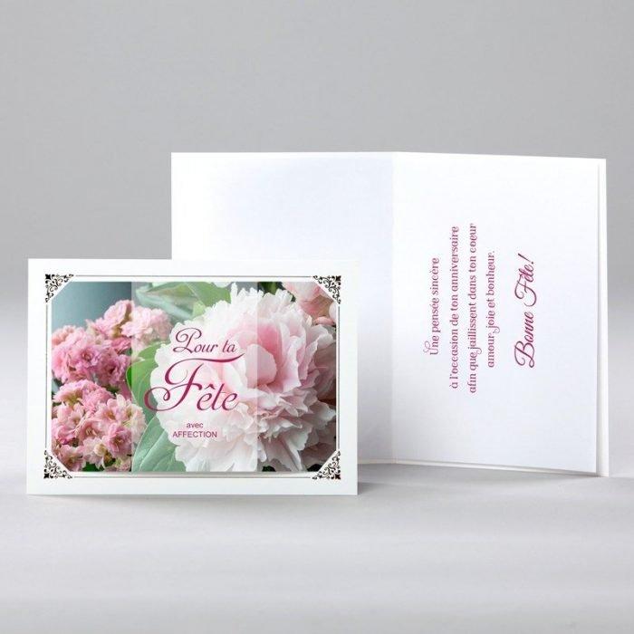 carte anniversaire - avec affection