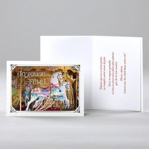 carte anniversaire - caroussel
