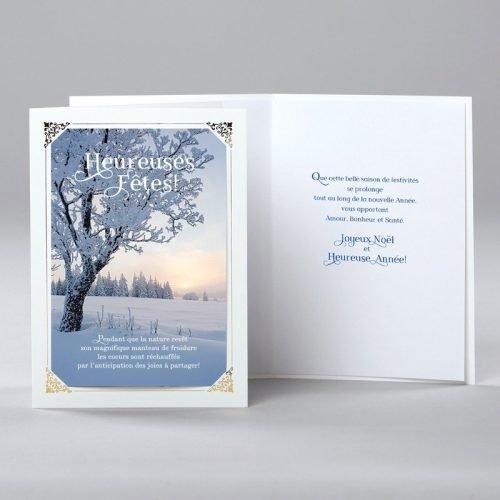 carte de noël - noël sous la neige