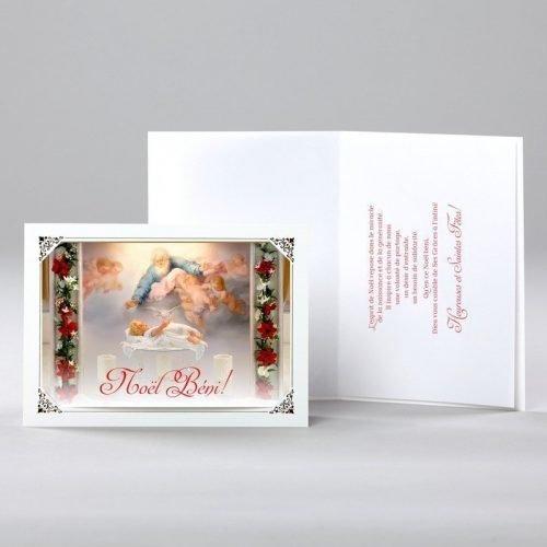 carte de noël - naissance de l'enfant-dieu