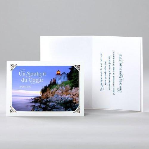 carte anniversaire - un souhait du coeur