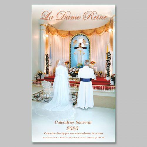calendrier 2020 - la Dame Reine - format légal