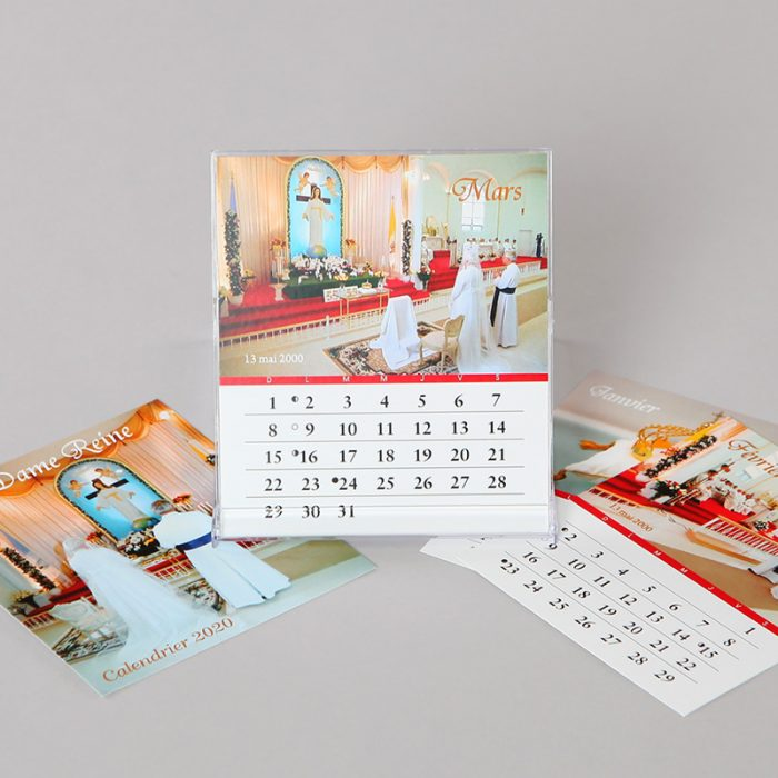 calendrier 2020 - la Dame Reine - format CD